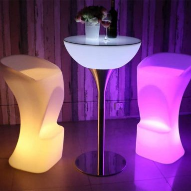 Stool Waterproof LED Light Feet Shaped Bar Stool