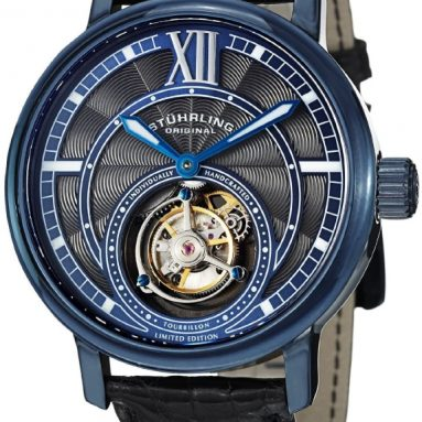 Stuhrling Original Men's Mechanical Blue Watch