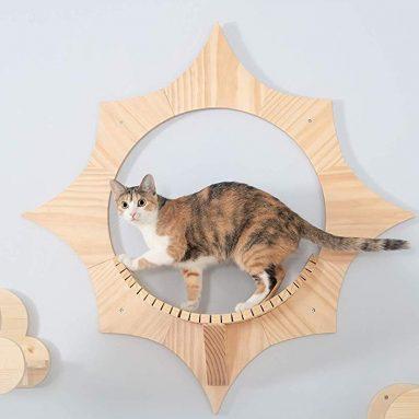Sun Shape, Wall Mounted Cat Shelves