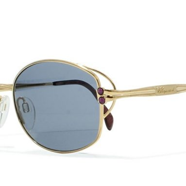 Chopard Gold Vintage Sunglasses Rectangular
