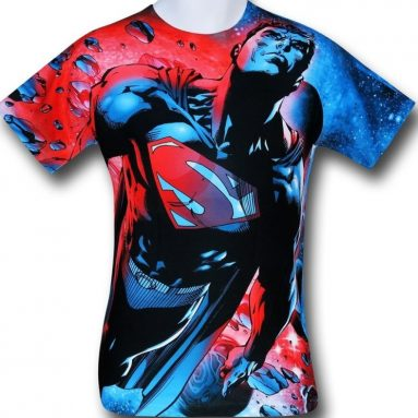 Superman Space Flight Sublimated T-Shirt