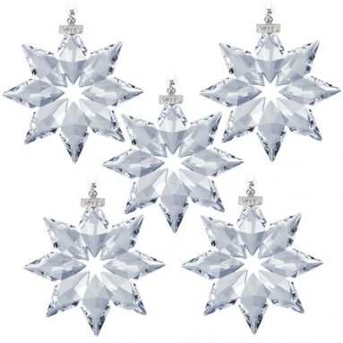 Swarovski 2013 Annual Edition Crystal Star Ornament 5 Pack