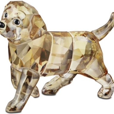 Swarovski Golden Retriever Standing Puppy
