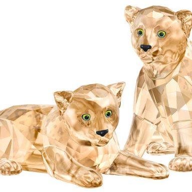Swarovski Amur Leopard Cubs