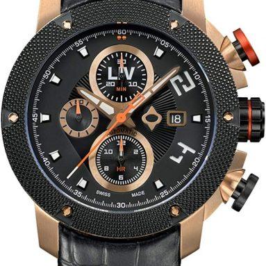 Swiss Made Automatic Self Winding Chronograph Analog Display Casual Watch