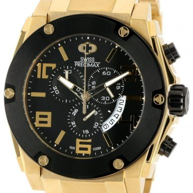 86% Discount: Swiss Men's Gold Stainless Steel Band Watch