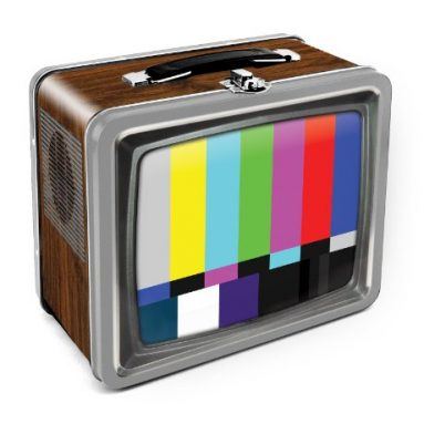 TV Embossed Tin Lunch Box