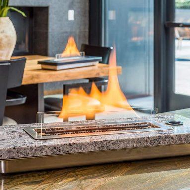 Tabletop Fireplace – Granite Samantha Blue