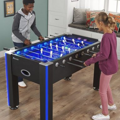 The Glowing Foosball Table