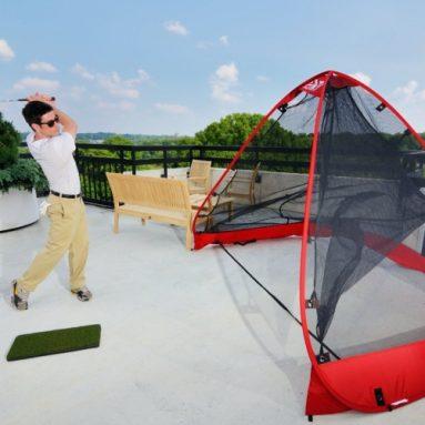 The Pop-Up RUKK NET and Mat Attack Golf Mat Package