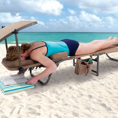 The Removable Shade Ergonomic Beach Lounger