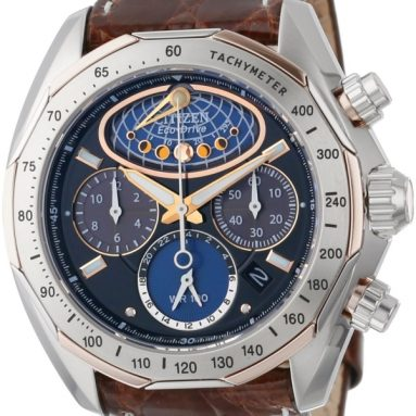 The Signature Collection Eco-Drive Moon Phase Flyback Chronograph Watch