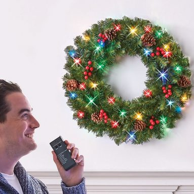 The Voice Controlled Light Show Wreath
