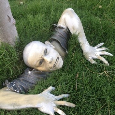 The Zombie of Montclaire Moors Sculpture
