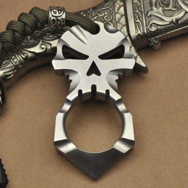 Titanium Skull Skeleton Pendant Keychain Tool-Devil eye