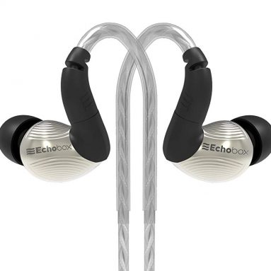 Titanium in-Ear Monitor with Tangle-Free Cable for Apple iPhone