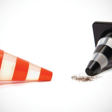Traffic Cone Salt & Pepper Shakers