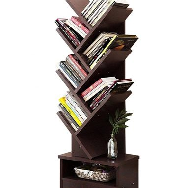Tree Shape Bookshelf Storage Display Unit