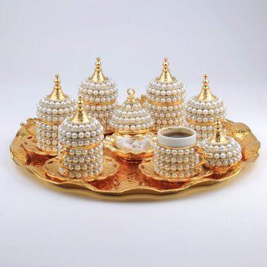 Turkish Greek Arabic Coffee Espresso Serving Cup Saucer