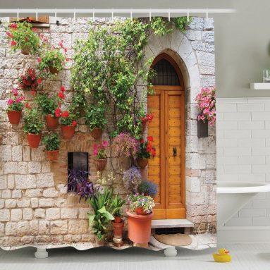 Begonia  Bathroom Shower Curtain Set