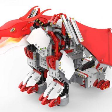 UBTECH JIMU Robot Mythical Series: Firebot Kit/ App-Enabled Building & Coding STEM Robot Kit