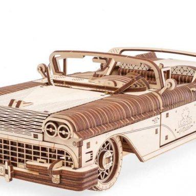 UGears Mechanical Wooden 3D Puzzle Model Dream Cabriolet