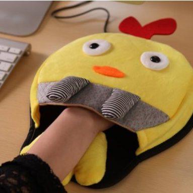 USB Warm Winter Mouse Pad with Wristguard
