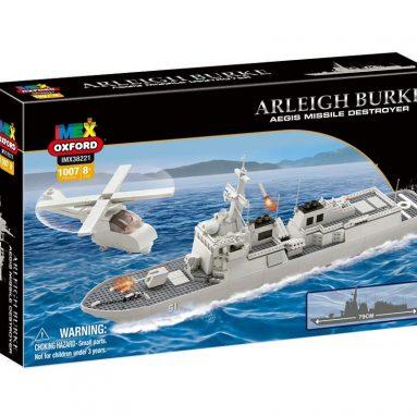 USS Arleigh Burke Aegis Missile Destroyer 1058 Pieces