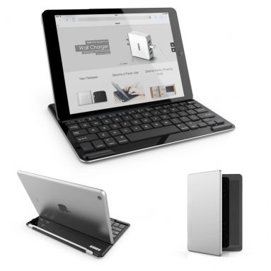 Bluetooth Wireless Aluminum Keyboard Cover with Stand for iPad Air / iPad 5