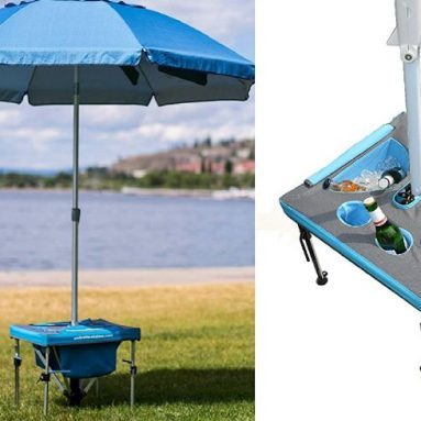 Umbrella Station with Beach Umbrella