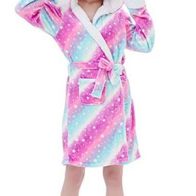 Unicorn Bath Robe Flanel Fleece Christmas Cosplay Robe