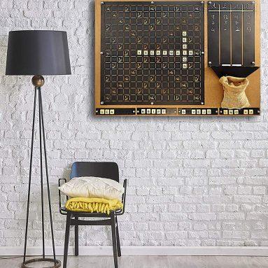 Unique Wall Game Scrabble Set