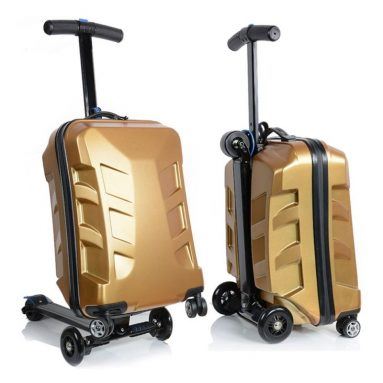 Unisex Multi-functional Suitcase Scooter Travel Trolley Luggage