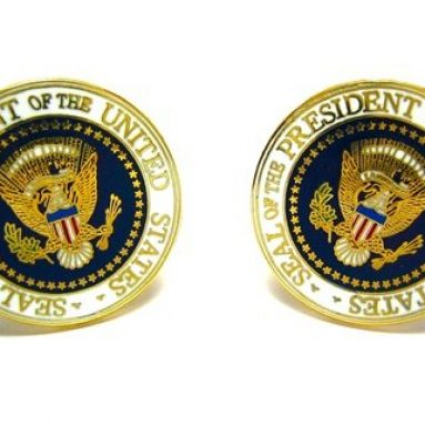 United States USA Presidential Seal Cufflinks
