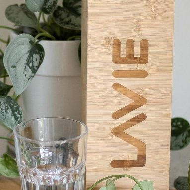 Water Purifier with Bamboo Case – Purify Water in 15 Minutes Using UV-A Light