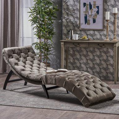 Velvet Chaise Lounge