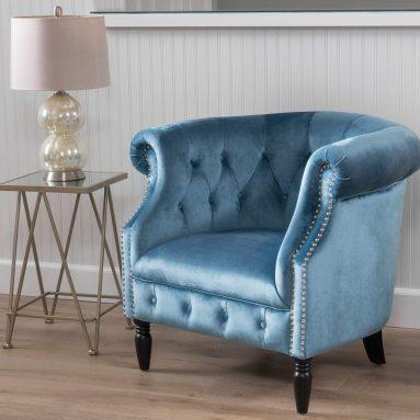 Velvet Tub Style Club Chair