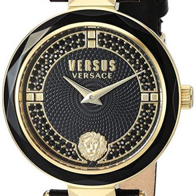Versace Women's 'Covent Garden Crystal' Quartz Stainless Steel and Leather Casual Watch