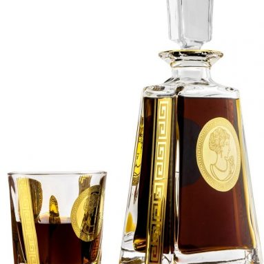 Victoria Bella Crystal Decanter and Whisky Scotch Brandy Glasses