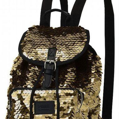 Victoria's Secret Bling Gold Backpack Bag