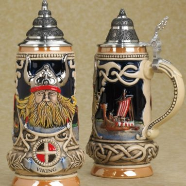 Viking German Handpainted Beerstein