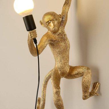 Vintage Resin Monkey Light Wall Lamp