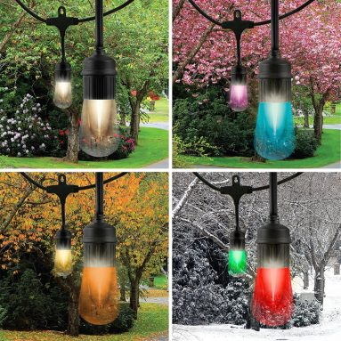 Vintage Seasons LED Warm White and Color Changing Café String Lights