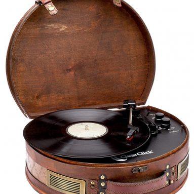 Vintage Suitcase Turntable with Bluetooth & USB