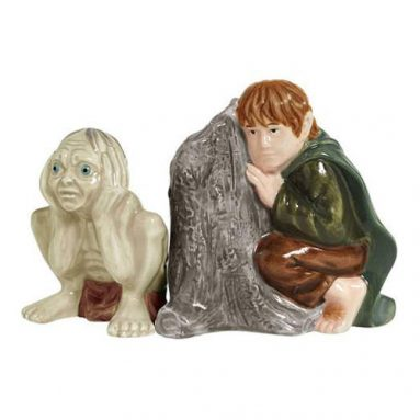Lord of the Rings Gollum and Samwise Salt and Pepper Shakers
