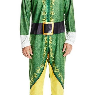 Warner Brothers Men's Buddy the Elf Hooded Uniform Union Suit