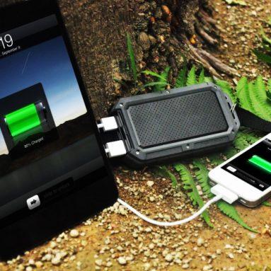 12000mAh Rugged Water/Dirt/Shockproof Dual USB Port External Battery Charger