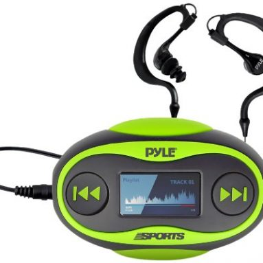 Waterproof MP3 Player/FM Radio with Waterproof Headphones