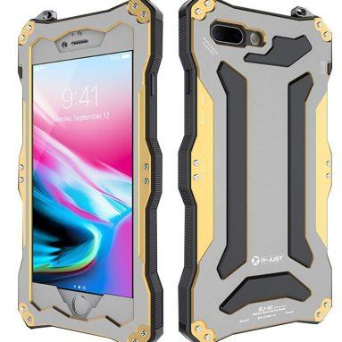 Waterproof Shockproof Metal Aluminum Gorilla Glass Case For Apple iPhone 8 Plus – Golden