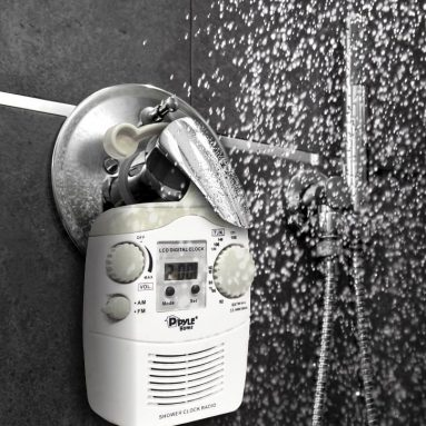 Home Waterproof Shower Clock Radio